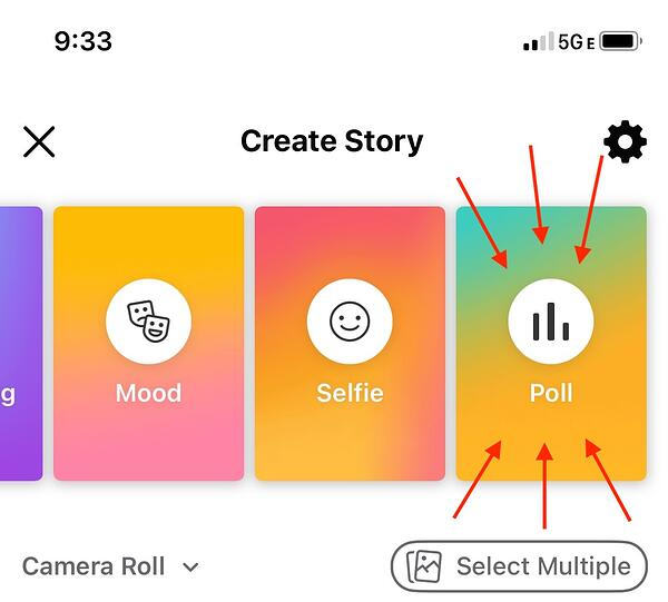 How to create a Facebook story poll