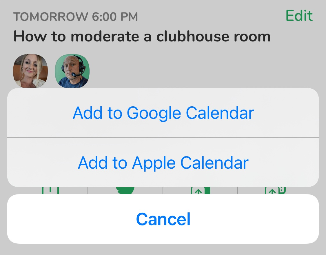 How to add clubhouse event to google calendar