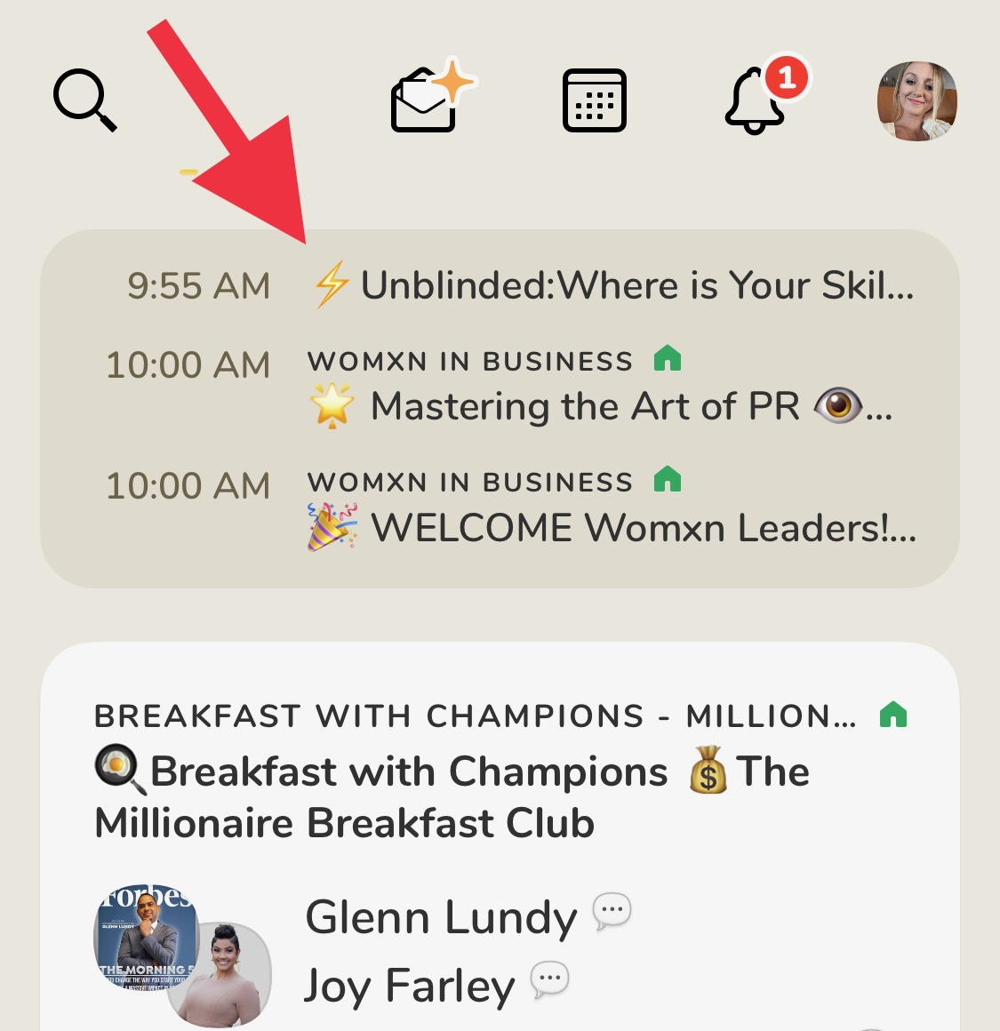 How to find upcoming events in clubhouse