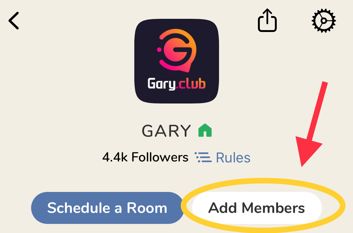 How to invite followers to my clubhouse club