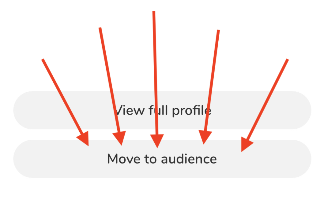 How to move yourself back to audience on Clubhouse app