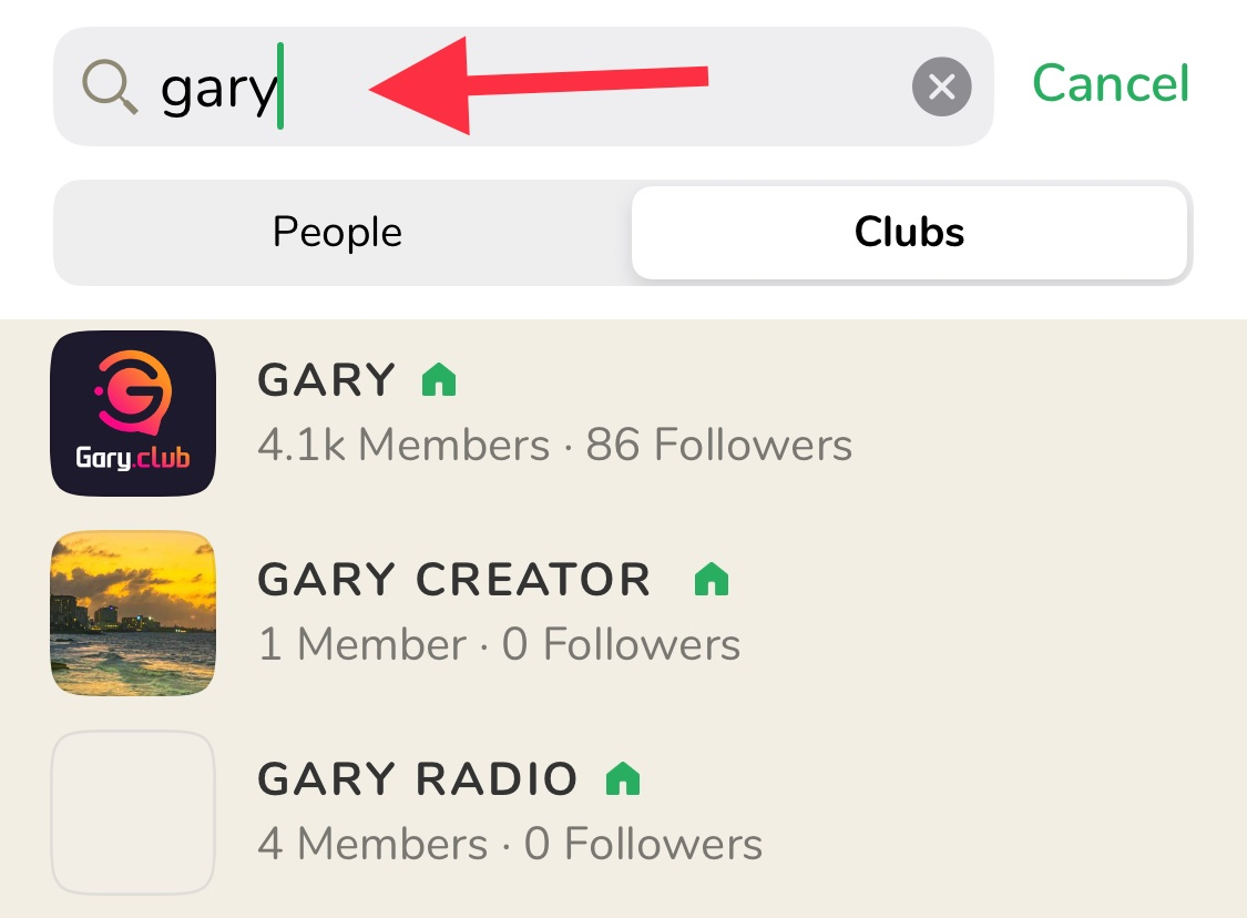 Invite new members to Gary.club on Clubhouse