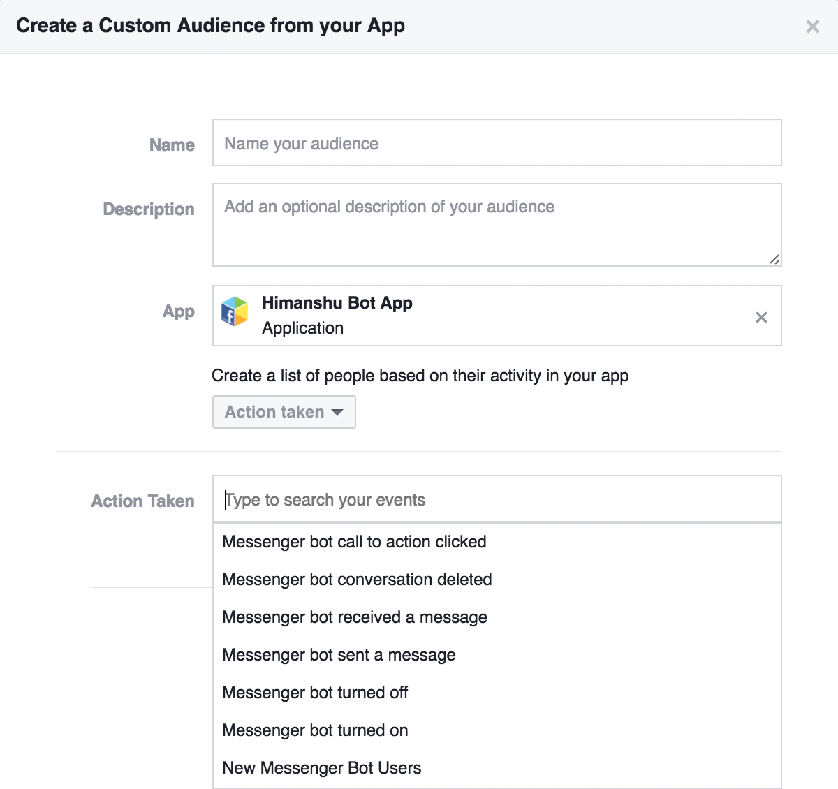Create Retargeting Custom Audience For Facebook Messenger Ads