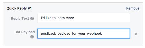 Facebook Messenger Ad Quick Replies