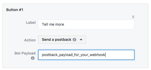 Facebook Messenger Ad Button