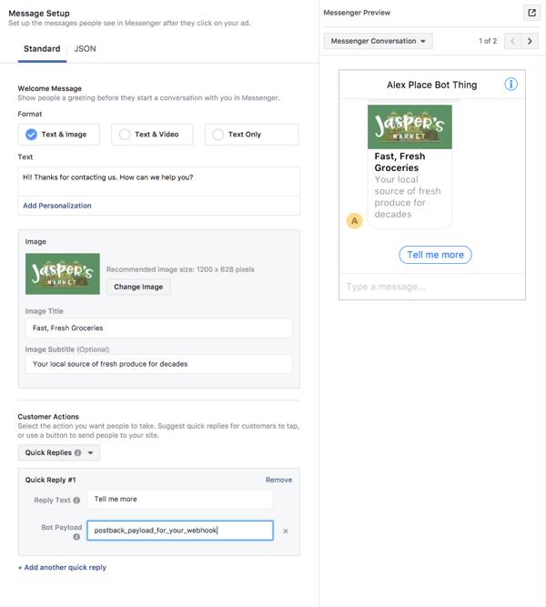 Facebook Messenger Ad User Experiene