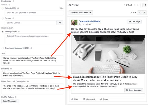 Facebook Messenger Ad Review