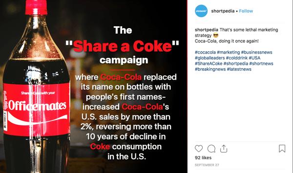 Coke Hashtag Campaign #shareacoke