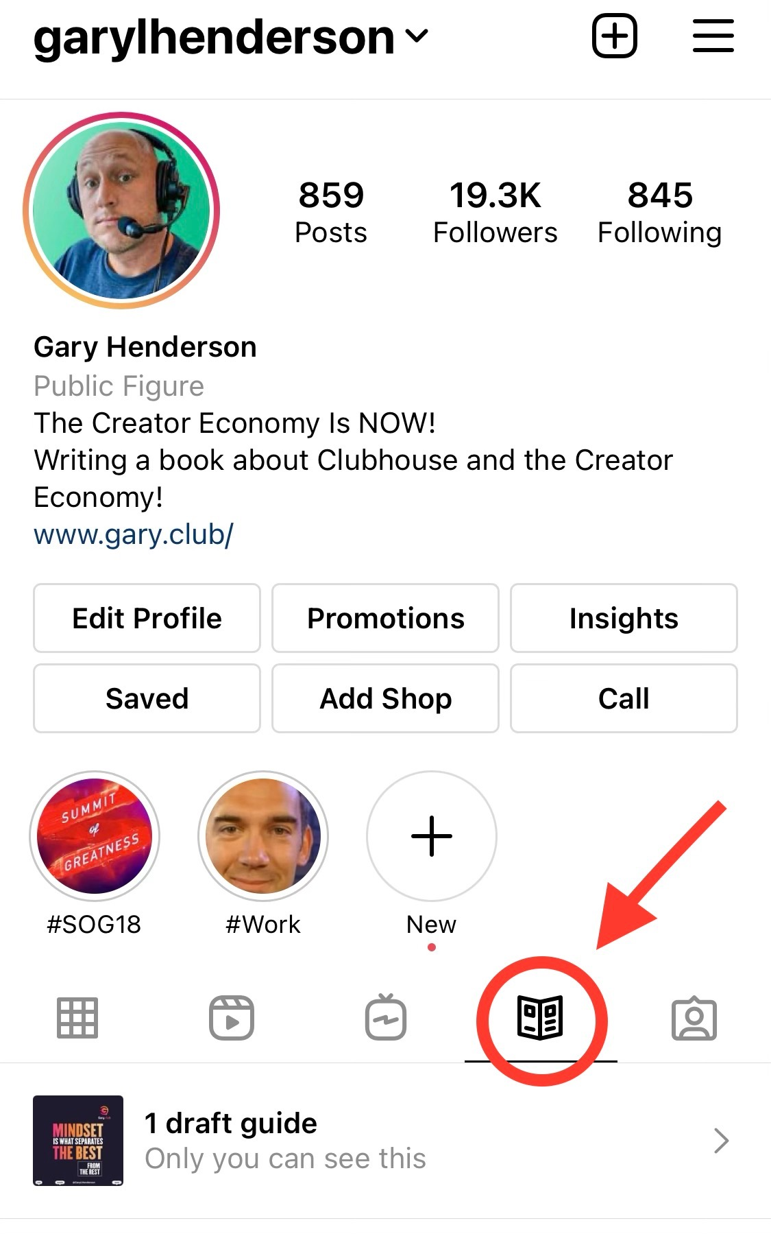 How to find Instagram Guides