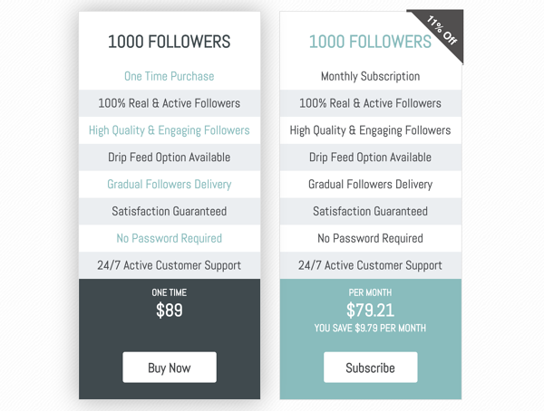 How much does it cost to buy Instagram followers?