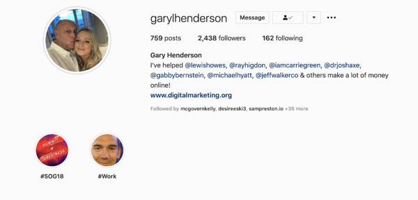 what is a micro influencer - Gary henderson example