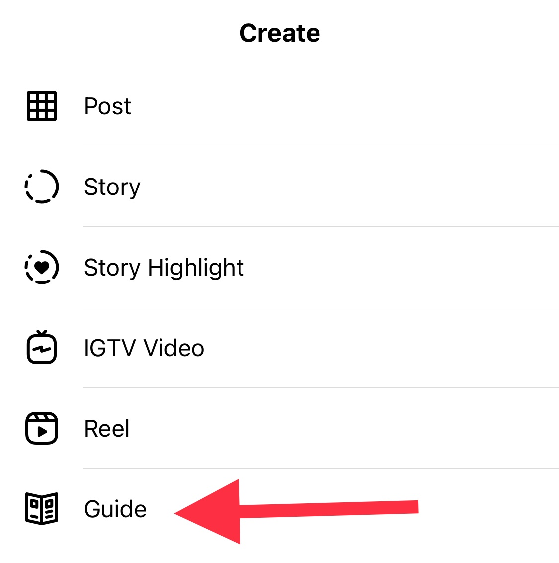 how to create instagram guide
