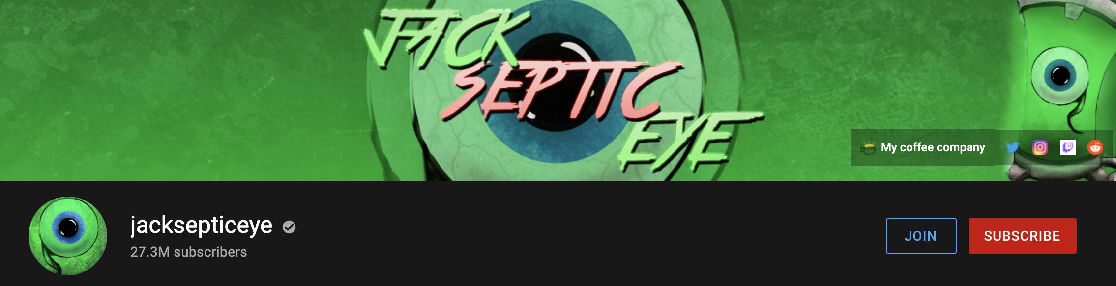 jacksepticeye YouTube Channel example