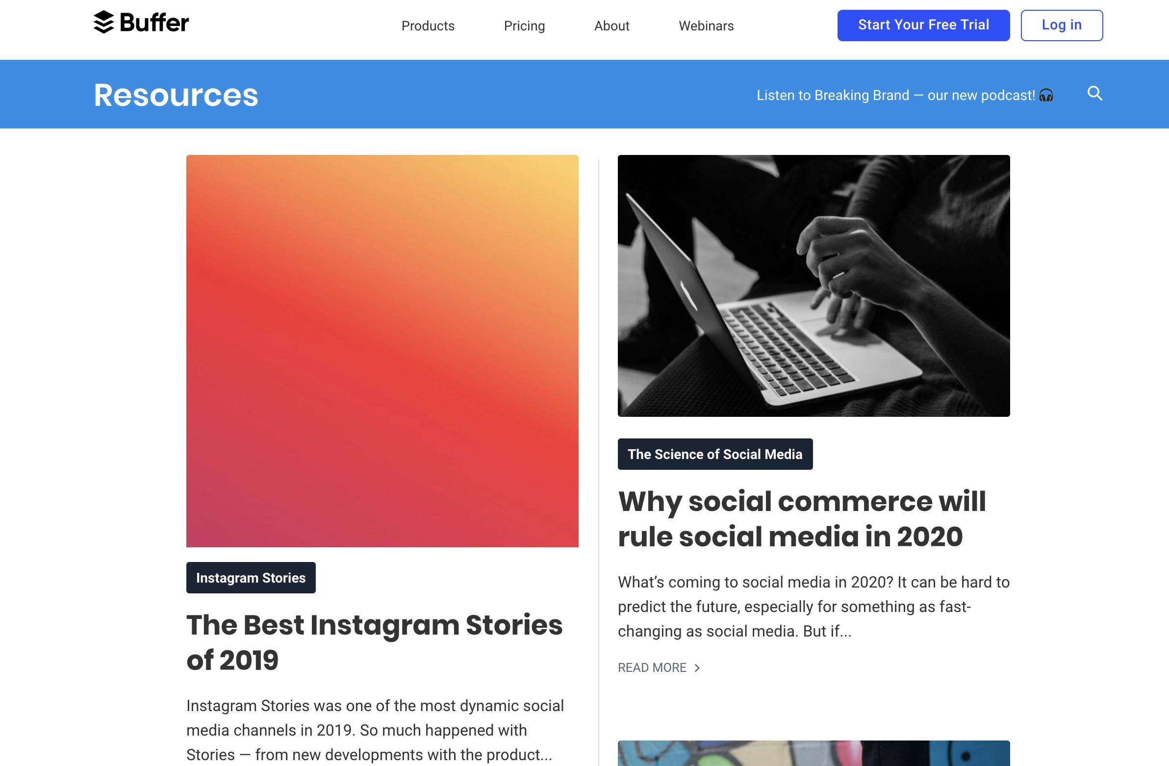 Buffer Blog - Top social media blogs you should be reading