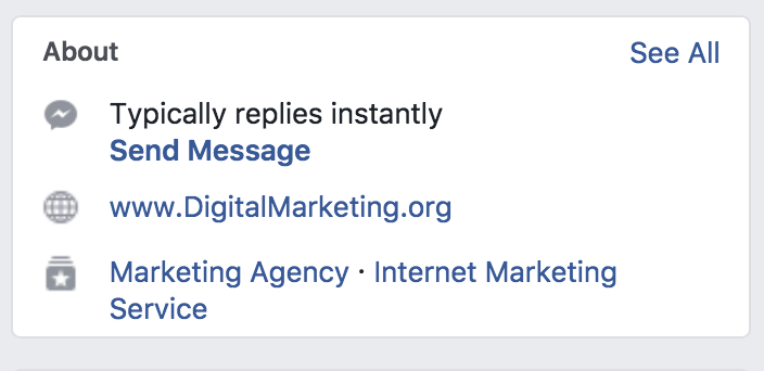 DigitalMarketing.org's Response Time to Customers on Facebook