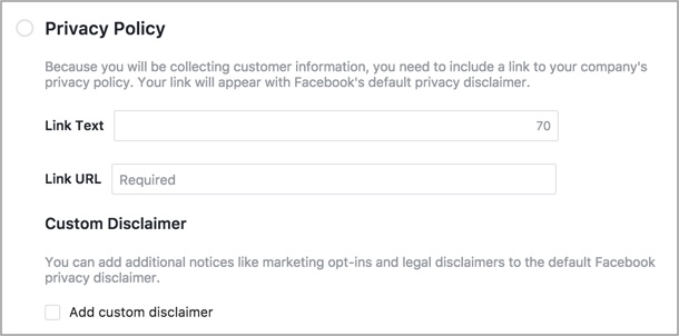 Lead Ad Privacy Policy