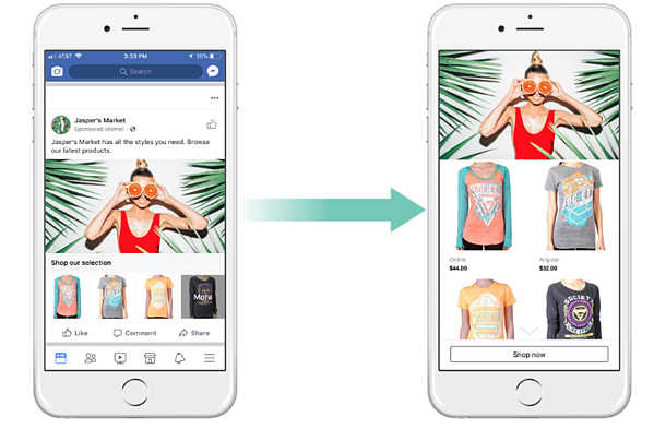 Facebook Collection Ads Example