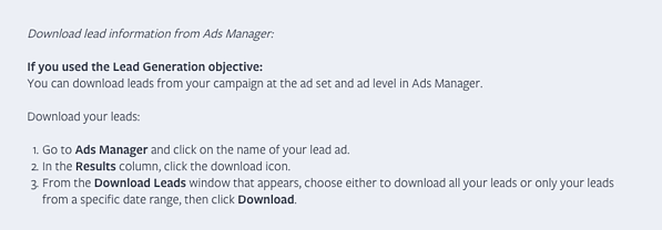 How To Manually Download Lead Ads From Ads Manager
