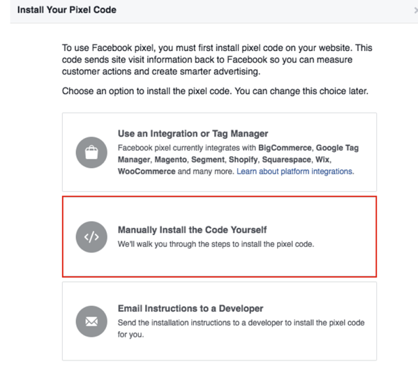 How To Install A Facebook Pixel Example
