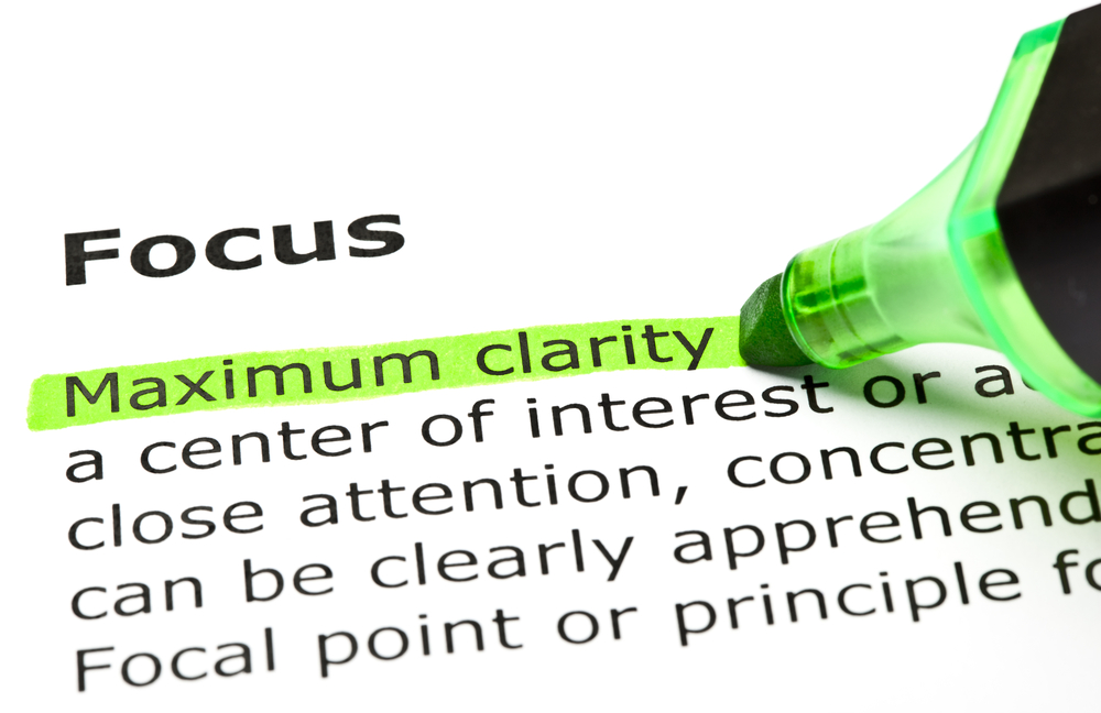 Focus and clarity in business
