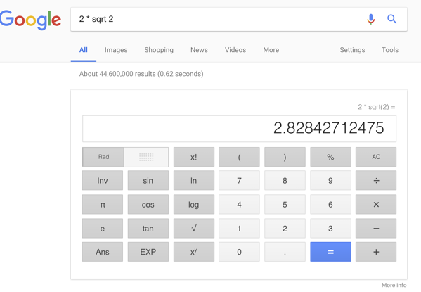 Google does math
