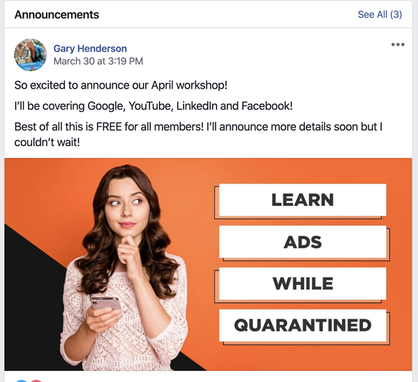 How to host Online Events On Facebook