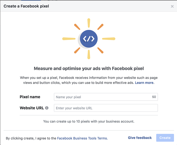 How to setup a Facebook pixel