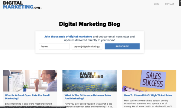 How to start a blog example