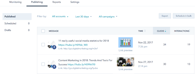 Social Media Monitoring HubSpot Example