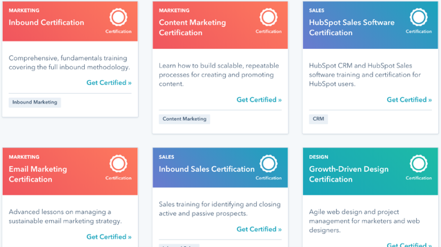 HubSpot Academy Certifications Example