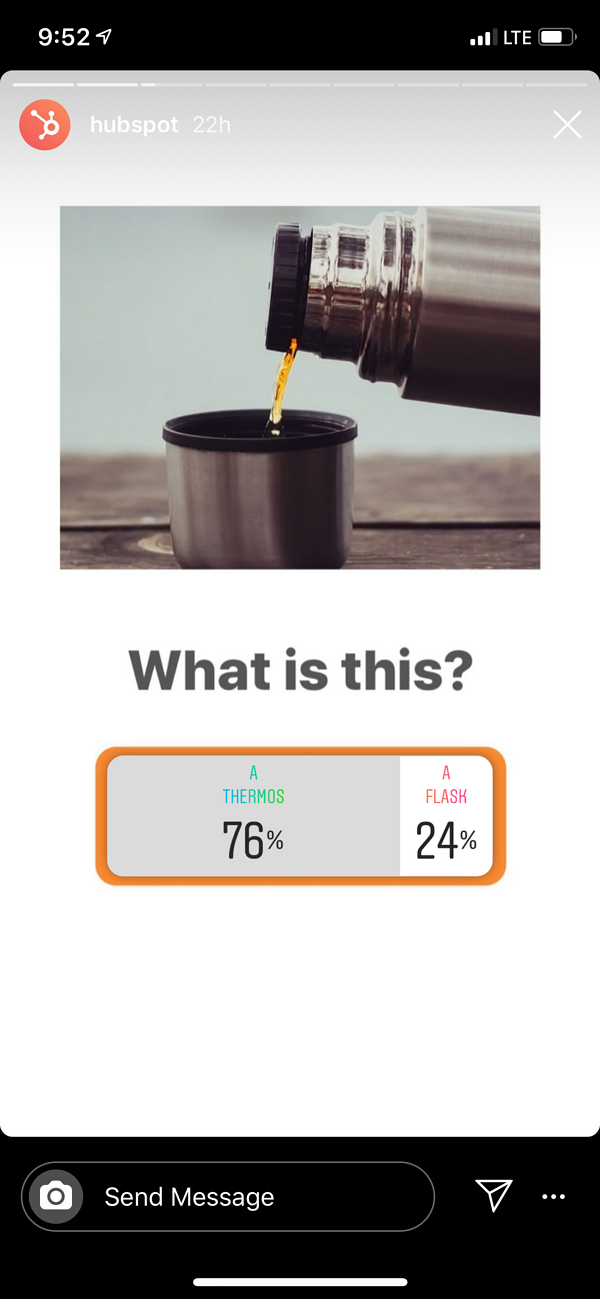 What Is Mindshare Instagram Poll Example