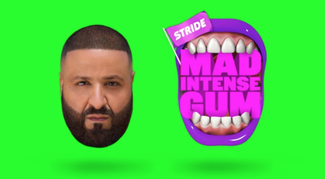 "Stride Gum ""Mad Intense Gum"" campaign with DJ Khaled"