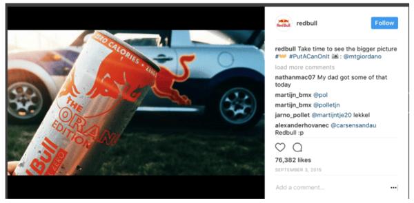 #putacanonit RedBull Campaign Example