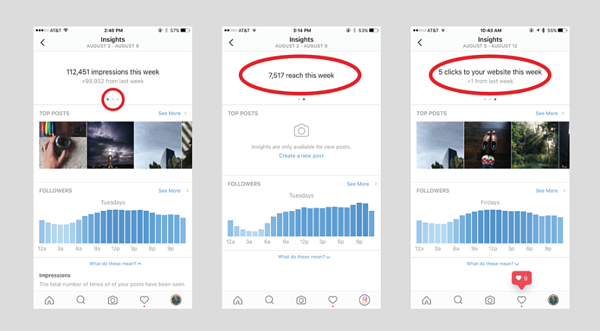 Instagram Insights Example