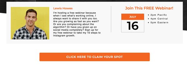Lewis Howes Free Webinar