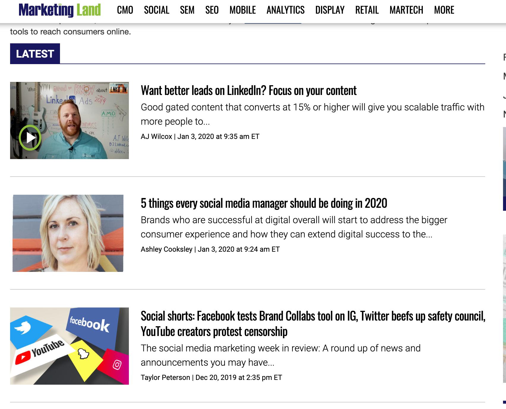 Marketing Land Blog - Social media blogs you should be reading