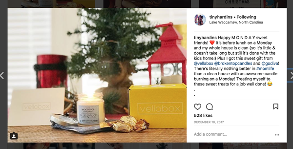 Instagram Micro Influencer Post Example