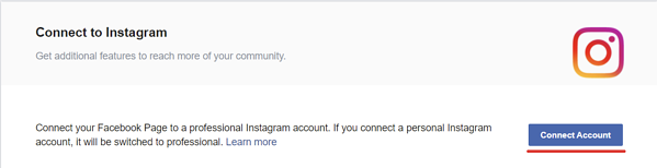 instagram option