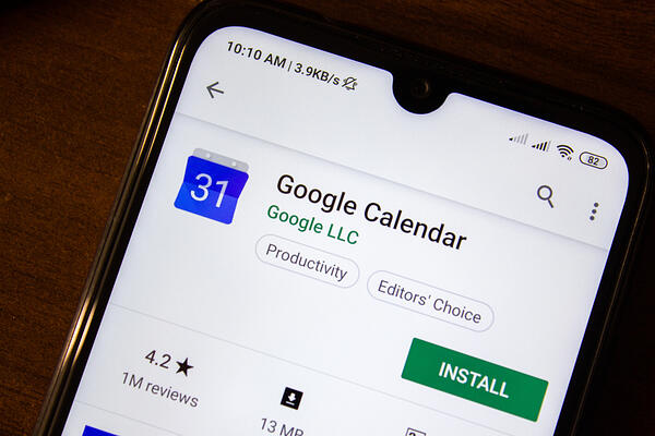 Google Calendar Example - Apps